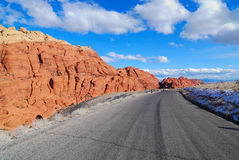 Road Leads to  Red Rock Canyon Royalty Free Stock Photos