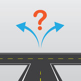 Road Left Or Right Royalty Free Stock Image