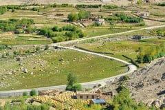 Road of Leh, Ladakh, Jammu and Kashmir, India Stock Photos