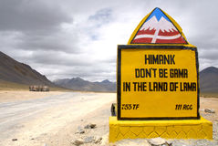The road between Leh and Manali. Along the road from Manali, in the foothills of the northwestern Indian Himalayas, to Leh, the capital of Ladakh, a former Royalty Free Stock Images