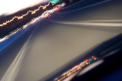Road Light Trails Stock Image