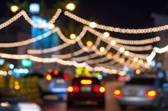 Road lighting Blurred Photo bokeh Stock Photography