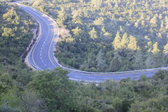 Road like S in the Judea mountains Stock Image
