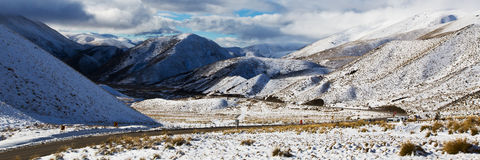 Road of Lindis Pass Royalty Free Stock Image