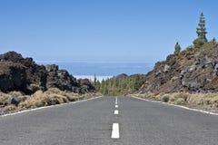 Road line. Asphalt road line close up Stock Image
