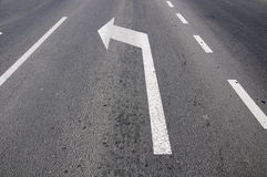 Road line and arrow Stock Photography