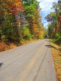 Road lined with fall foliage Stock Photography