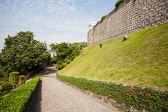 Road lined with stone from Guia Fortress in Macau Stock Photo