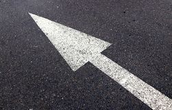 Road Lines and Arrow. For routing Royalty Free Stock Images