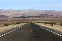 Road lines in death valley, california, usa Stock Images