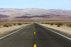 Road lines in death valley, california, usa Royalty Free Stock Photo