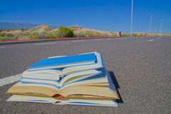 On the Road Literature Concept Royalty Free Stock Photography