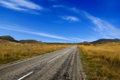 Road living far Royalty Free Stock Photo