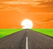 Road living far Royalty Free Stock Image