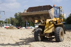 Road loader. Royalty Free Stock Images