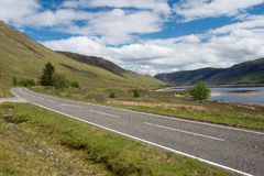 Road at Loch Duich Royalty Free Stock Image