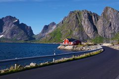 Road on Lofoten Islands Royalty Free Stock Photography