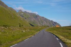 Road on Lofoten Islands Stock Photos
