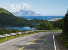Road on the Lofoten, Norway Royalty Free Stock Photography