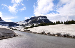 Road through Logan pass Royalty Free Stock Photography