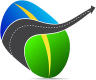 Road logo. A vector drawing represents road logo design vector illustration