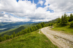 Road in the Lotru mountains Royalty Free Stock Photography