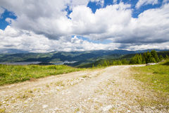 Road in the Lotru mountains Royalty Free Stock Images