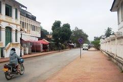 Road in Luang Prabang City at Loas Royalty Free Stock Photo