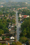 Road in Luang Prabang, View from Above Royalty Free Stock Images