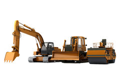 Road machinery. Group road machinery for road construction Royalty Free Stock Image