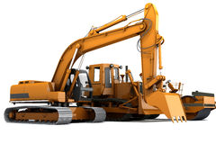 Road machinery. Group road machinery for road construction Royalty Free Stock Photos