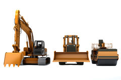 Road machinery. Group road machinery for road construction Royalty Free Stock Images