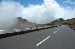Road in Madeira Island. Stretch of road in Madeira Island, Portugal Royalty Free Stock Photo