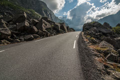 Road in Magma Geopark. Norway Royalty Free Stock Photos