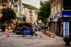 Road Maintenance Work Royalty Free Stock Photography
