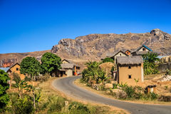Road through malagasy village Royalty Free Stock Images