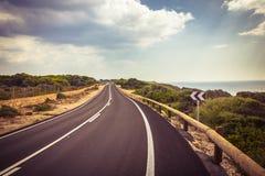 Road on the Mallorca Island, Spain. Beuatiful road on the Mallorca Island, Spain Royalty Free Stock Images
