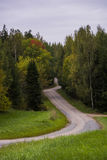 Road with many corners. One of the best roads for driving in Tartu, Estonia Stock Photography