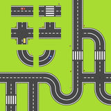 Road map. Segments for easy creating own road maps Royalty Free Stock Photos