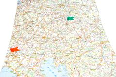 Road map of Europe Royalty Free Stock Images