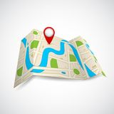 Road Map for GPS Application Royalty Free Stock Photo