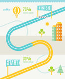 Road Map Infographics Template Royalty Free Stock Photos