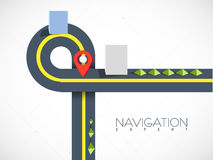 Road map navigation with pointer. Royalty Free Stock Images