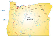 Road map Oregon Stock Images
