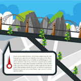 Road map with roads and bridge Royalty Free Stock Photography