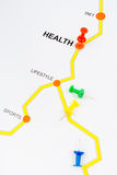 Road map to health concept Stock Image