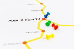 Road map to health concept Stock Photos
