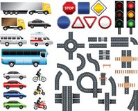 Road map toolkit big  set Royalty Free Stock Photo