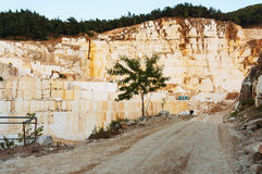 Road into marble quarry Royalty Free Stock Images