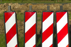 Road markers Royalty Free Stock Photography